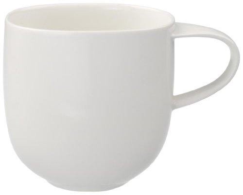 Villeroy & Boch Urban Nature Tasse, 380 ml, Höhe: 9,5 cm, Premium Porzellan, Weiß