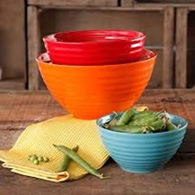 The Pioneer Woman Flea Market 3-Piece Ceramic Mix Bowls (1)