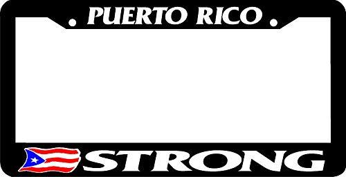 Yohoba Puerto Rico Strong Boricua Puerto Rico Rican Flag License Plate Frame