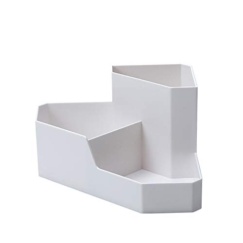 Yuzhijie Simple Desktop Cosmetic Corner Storage Box Nordic Creative Home Remote Control Finishing Box Stationery Jewelry Box, White