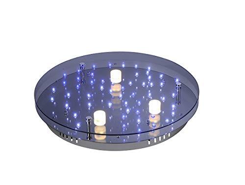 Paul Neuhaus Deckenleuchte, 3 x LED / 4,80 W / 3000 K / 56 x LED / 0,05 W, Innenleuchte, IP20, chrom 6455-17