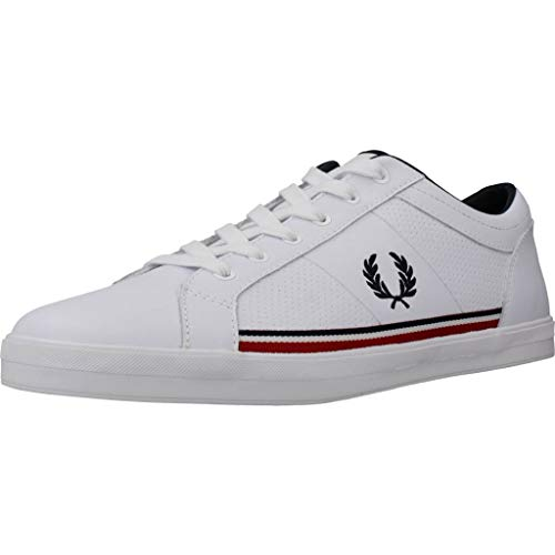 Fred Perry Baseline Perf Leather B7114200, Scarpe Sportive - 43 EU