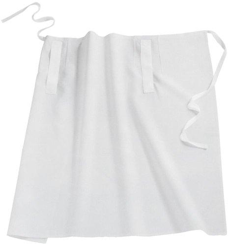 Bistro-Schürze / Vorbinder mit Taschenschlitzen Farbe: Weiß