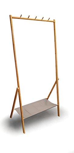 Osoltus Kledingrek, bamboe, garderoberek, garderobe, naturel