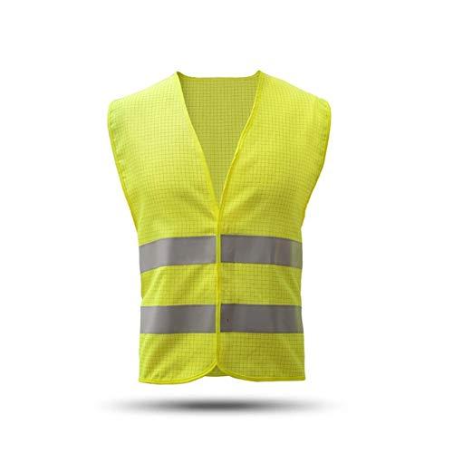 Chaleco de Seguridad Alta visibilidad reflectante Gasolinera seguridad chaleco reflectante de poliéster de punto Chaleco Workwear Día Noche advertencia de seguridad Chaleco para Seguridad y Protección