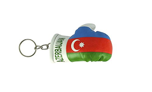 Schlüsselanhänger Boxhandschuh Auto Motorrad Flagge Schlüssel Jahrhundert Azerbaijan,