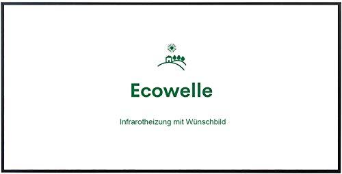 Ecowelle Eigenes Bild & Foto Infrarot Heizung mit Herstellergarantie - Made in Germany - Infrarotheizung mit Wünschbild (750 Watt, Schwarze Alurahmen)