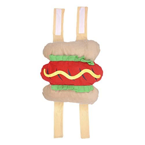 UKCOCO Divertenti Costumi di Halloween, Vestiti di Hot Dog Design per Cani, Vestiti per Animali Domestici - Taglia S
