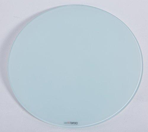 Euro Tische Glasplatte rund universell einsetzbar - Glasscheibe mit 6mm ESG Sicherheitsglas - perfekt geeignet als Tischplatte/Bodenplatte - 30cm / 40cm / 50cm (Weiß, 40 cm)