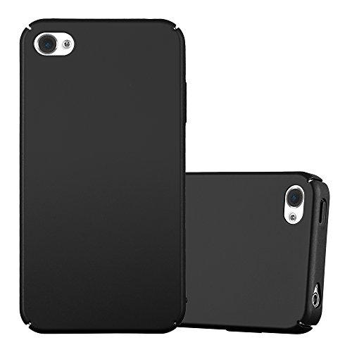 Cadorabo Hülle für Apple iPhone 4 / iPhone 4S - Hülle in Metall SCHWARZ – Hardcase Handyhülle im Matt Metal Design - Schutzhülle Bumper Back Case Cover
