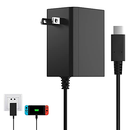 BENSN 39W Fast Charger for Nintendo Switch Lite and Switch Dock Pro Controller Support TV Mode, USB C Cargador Adaptador, AC Power Supply for Samsung OnePlus Xiaomi Notebook Tablet 15V/2.6A 5V/3A
