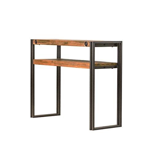 Meubletmoi Console d'appoint Style Industriel en Bois d'acacia Massif brossé et Structure métal – Collection Workshop