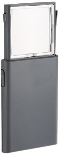 ミザールテック MIZAR-TEC ポケットルーペ 倍率2倍 レンズ径45×45mm ライト付き RF-730P