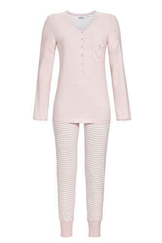Ringella Lingerie Damen Pyjama mit Knopfleiste rosenquarz 42 0561216, rosenquarz, 42