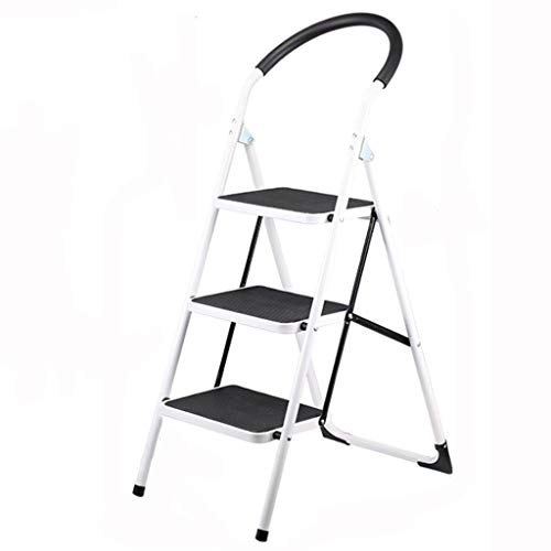 ZfgG 3-traps ladder, Heavy Duty Steel, draagbaar vouwen, met antislipmat .C
