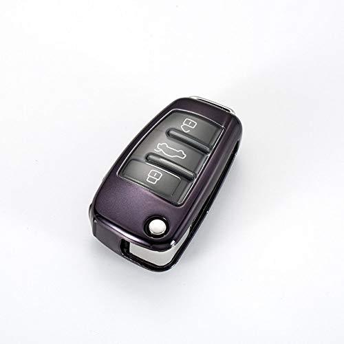 Cubierta de la llave del coche, suave TPU protector de la llave del coche, funda protectora de la llave del coche cubierta del llavero para Audi Q3 A4L A6L Q5 Q7 A1 A3, A, negro