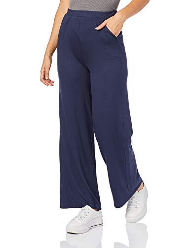 Calça Pantalona em viscose, Malwee, Femenino, Azul Escuro, PP
