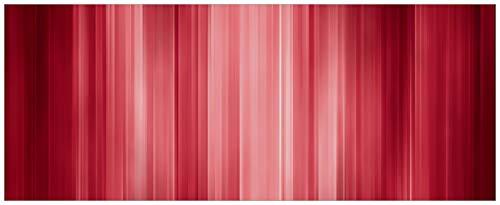 Wallario Acrylglasbild XXL Rot und schwarz gestreift - Abstraktes Streifenmuster - 80 x 200 cm in Premium-Qualität: Brillante Farben, freischwebende Optik