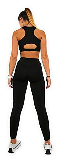 Mallas Push Up para Deporte de Mujer, Leggins Pantalon Deporte Yoga, Leggings Mujer Fitness Suaves Elásticos Cintura Alta para Reducir Vientre (S, s)