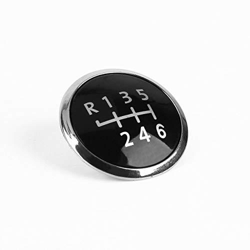 Monllack 6 Geschwindigkeit Schaltknauf Stick Abdeckung Emblem Abzeichen Kappe Trim Cap Abdeckung Auto-Styling Dekorative Kappe Für VW Transporter T5 / T5.1