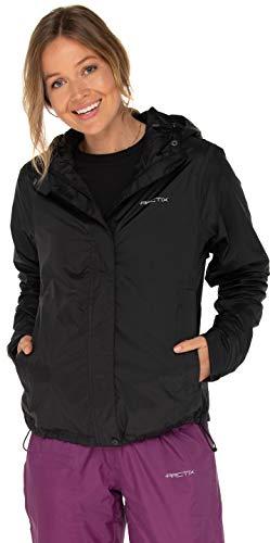 ARCTIX Women's River Rain Jacket, Black, Large