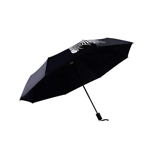 zhenfa Zebra Aquarell Schirm Sonne Sonnenschirm Sonnenschutz Jungen und Mädchen schwarz Leim Dach DREI Falten Regenschirm