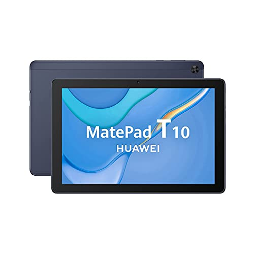"HUAWEI MatePad T 10 - Tablet de 9.7"" con pantalla HD (WiFi, RAM de 2GB, ROM de 32GB, procesador Kirin 710A, altavoces dobles, EMUI 10.0, Huawei Mobile Services & App Gallery), color Azul"