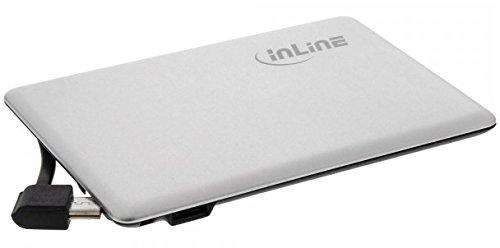 InLine 01475S USB Zusatzakku PowerBank Slim 1400mAh Silber