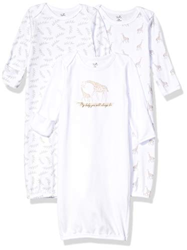 Touched by Nature Unisex Baby Organic Cotton Gowns Little Giraffe 06 Months US