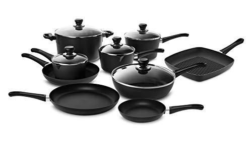 Scanpan Classic Cookware Set, 14 piece with Stratanium Nonstick