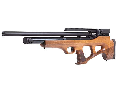 in budget affordable Benjamin Akera BPA22W .22 caliber PCP mounted multi-shot side lever hunting air rifle, bullpup