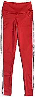 YKDY Yoga Trousers Sports and Fitness Bottoming Stretch Yoga Pants White Side Folds Sports Leggings (Color : Red, Size : L)