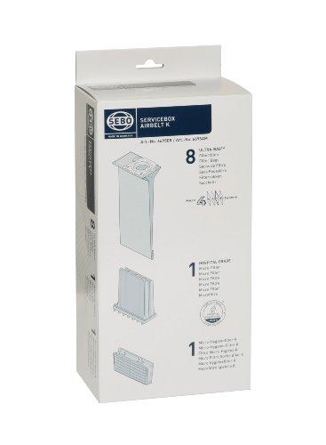 Sebo 6695ER Service-Box für airbelt K inkl. 8 Ultra-Bag Filtertüten 3-lagig, 1 Hospital-Grade-Filter und 1 Micro-Hygienefilter K