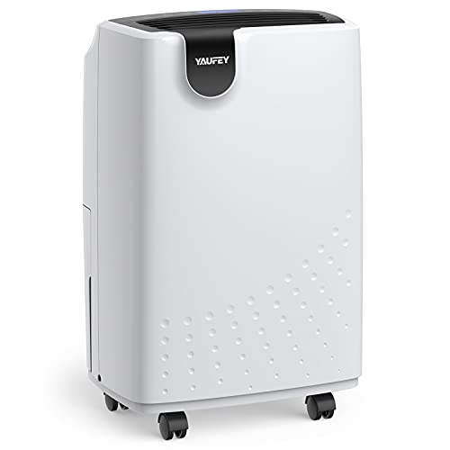 Yaufey 1750 Sq. Ft Dehumidifiers for Home and Basements, with Drain Hose for Auto Drainage and Water Tank for Manual Drainage