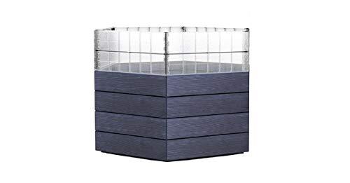 Ergo-Hochbeet -System, Höhe 25 cm, Wood - 3er Set mit Wachstumsmodul
