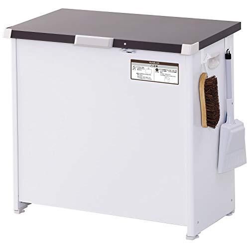 エムケー精工?マルチボックス 150L 屋外用 宅配ボックス 南京錠フック付き ダストストッカー 収納ボックス 物置 組立式 CLM-115C ホワイト 1)150L