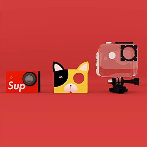SHARESUN Cámara Deportiva SLR con WiFi, videocámaras Digitales con cámara Digital Anti-caída de 20MP 1080P HD con Tarjeta de 16GB TF incluida, Regalos de cumpleaños creativos para niños,Yellow