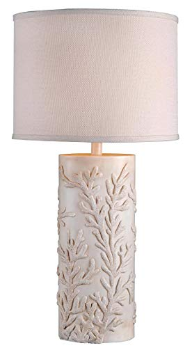 Kenroy Home 32267AWH Reef Table Lamp, Large 30 inch, White