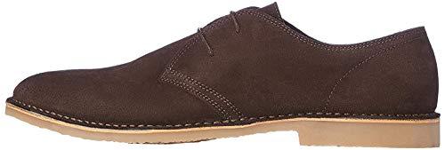 FIND Herren Derby Schuhe aus Wildleder, Braun (Chocolate)
