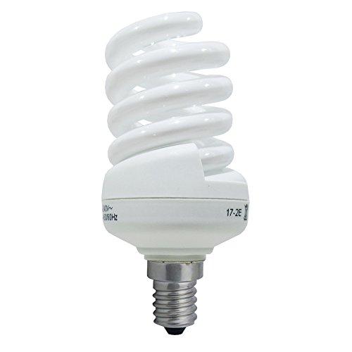 Laes 978674 Ampoule économique spirale E14, 13 W, blanc, 45 x 105 mm
