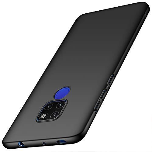ORNARTO Funda Huawei Mate 20, HW Mate 20 Carcasa [Ultra-Delgado] [Ligera] Mate Anti-arañazos y Antideslizante Protectora Sedoso Caso para Huawei Mate 20 (2018) 6.53' Negro