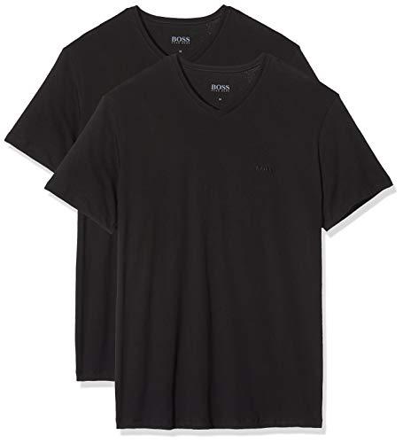 BOSS Herren VN 2P CO T-Shirts, Schwarz (Black 001), Large (2er Pack)