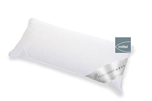 Hanskruchen Premium * * * * | Piumino–Tre Pettine Cuscino 80x 80cm | Prodotto di qualità Tedesca |, Medio, 40 x 80 cm