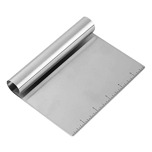 Stainless Steel Pastry Bench Scraper Chopper Multipurpose Kitchen Gadget for Cooking Baking Bread and Pizza Dough