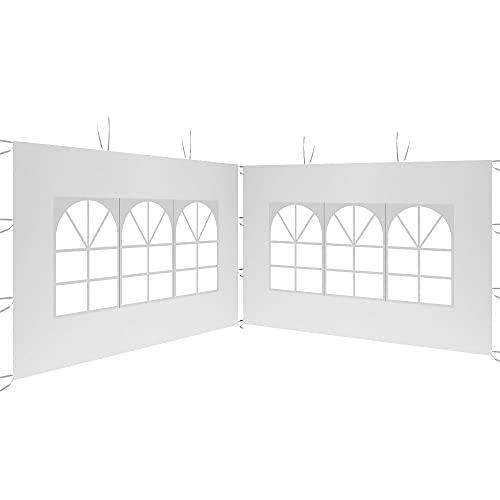 Pannello laterale 3 x 2 m per gazebo da giardino, gazebo pieghevole impermeabile in tessuto Oxford 210D Gazebo, tenda di Recezione, per terrazzo, giardino, festa, colore: bianco