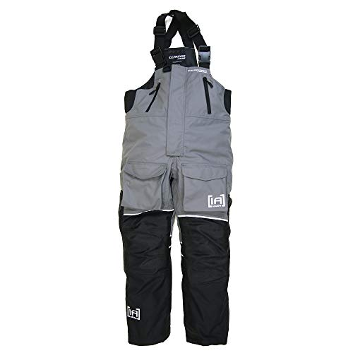 Clam Icearmor Ascent Float Bib, Charcoal/Black, Size XX-Large