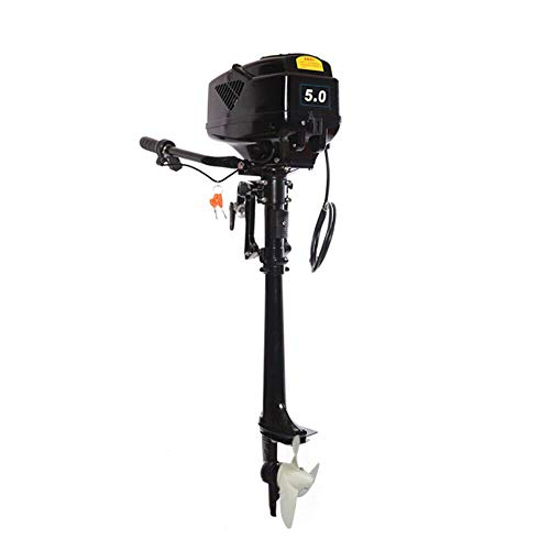 Buy Discount HANGKAI 5 HP Electric Outboard Motor Boat Engine 1000/1200W Electric Start Marine Trolley Driver Brushless Motor Propeller