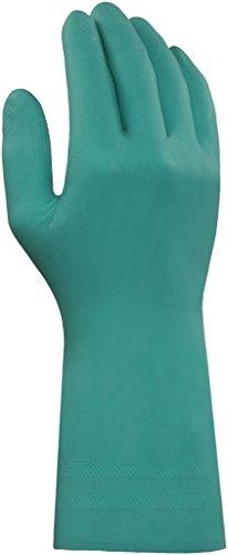 Ansell proFood 79-340 Nitril Handschuhe, Chemikalien- und Flüssigkeitsschutz, Grün, Größe 7.5-8 (1 Paar pro Beutel)