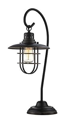 "Lite Source LS-21456D/BRZ Lanterna Ii Table Lamp, 10"" x 9"" x 23"""