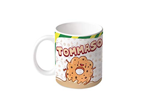 M.M. Group Tazza con Nome e significato Tommaso, 11 Ounces, Ceramica, Multicolor